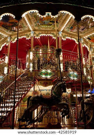 Carousel night shot - stock photo