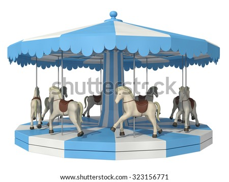 carousel on a white background