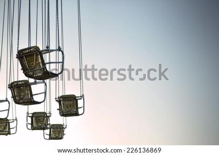 Carousel Seats - stock photo