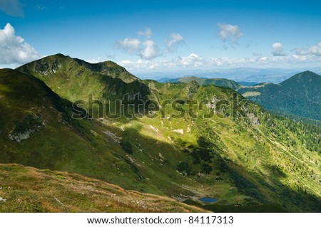 Carpathian mountains: Beautiful landscape in summer. Large resolution - stock photo