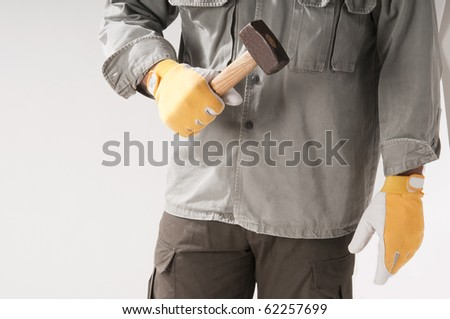 Carpenter with hammer