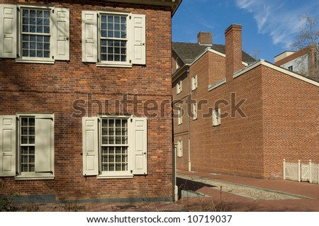 Carpenters Hall, home to First Continental Congress of 1774 - stock photo