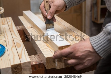Carpentry and Joinery, wooden workshop   - stock photo