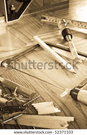 Carpentry Concept Image - stock photo