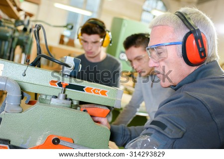 Carpentry work shop - stock photo