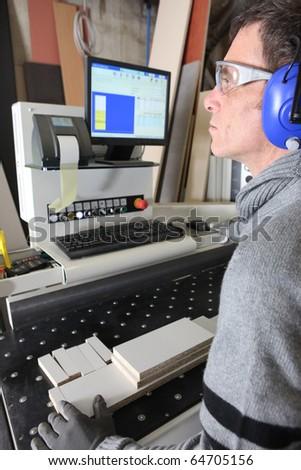 Carpentry workshop - stock photo