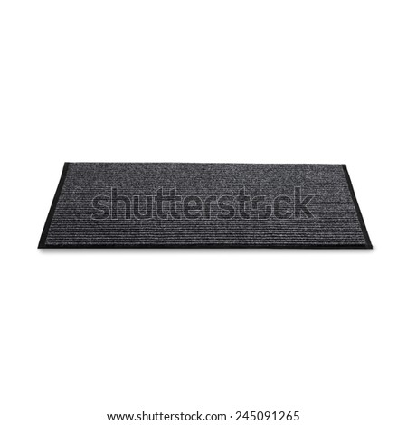 carpet for the feet on a white background - stock photo