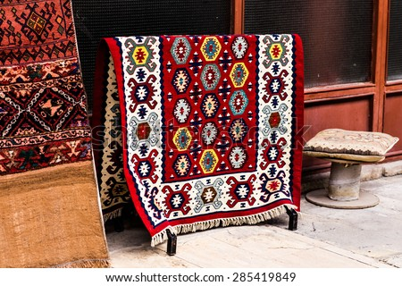 carpet in Istanbul  - stock photo