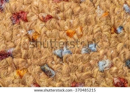 Carpet, macro detail - stock photo