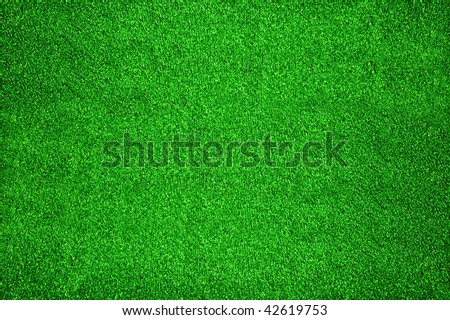 Carpet of green artificial grass for background