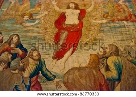 Carpet painting in vatican - stock photo