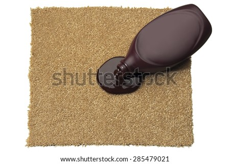 Carpet with Spilled Chocolate Syrup - stock photo