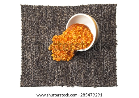 Carpet with Spilled Food - stock photo