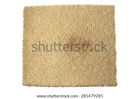 Carpet with Stain - stock photo