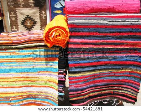 Carpets. East market - stock photo