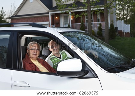 Carpooling from home - stock photo