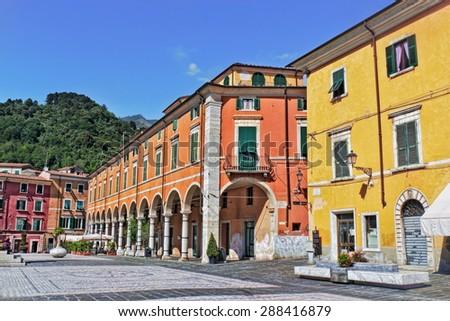Carrara Piazza Alberica - stock photo