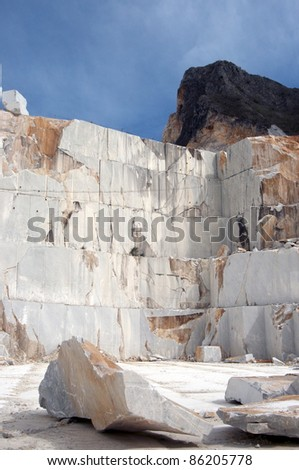 carrara's quarry - stock photo