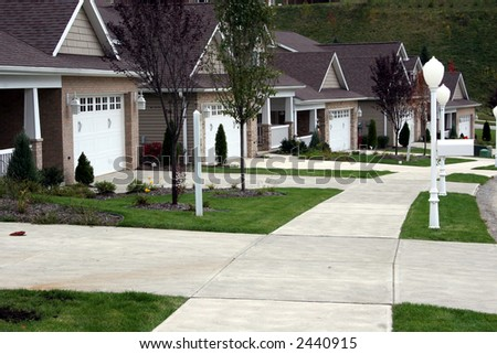 Carriage Homes - stock photo