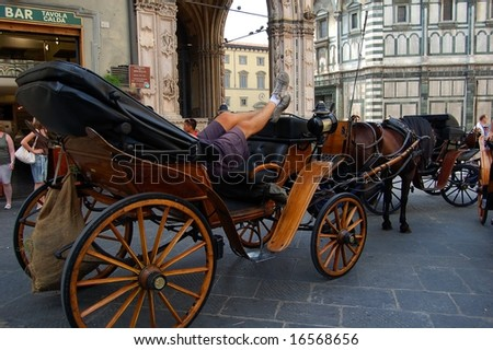 carriage in Florence - stock photo