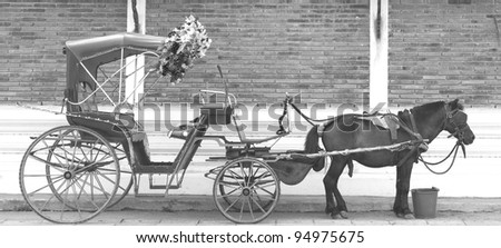 Carriage of Lampang. - stock photo