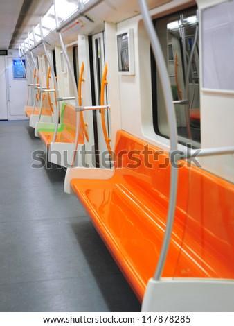 Carriage of mass rapid transit - stock photo