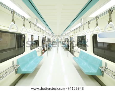 Carriage of mass rapid transit - stock photo