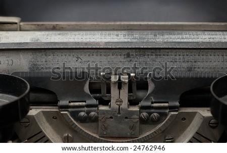 Carriage of vintage printing press - stock photo