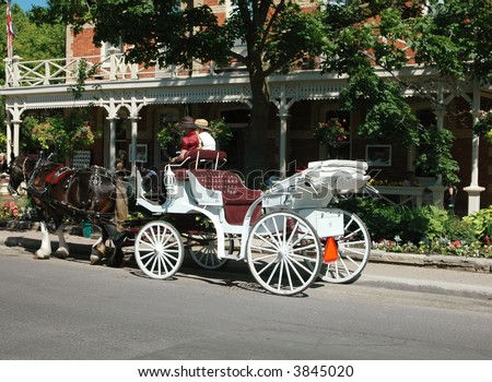 Carriage Ride-Niagara On The Lake.Ontario,Canada - stock photo
