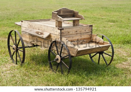Carriage western style. - stock photo