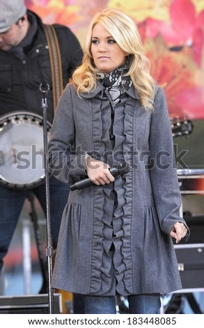 Carrie Underwood on stage for Good Morning America GMA Concert with Carrie Underwood, Lincoln Center, New York, NY November 3, 2009 Photo By Kristin Callahan/Everett Collection