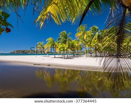 Carrillo Beach in the near of Samara, Costa Rica - stock photo