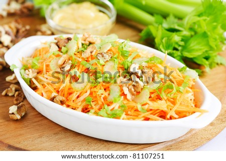 carrot and celery salad - stock photo