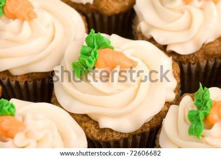 Carrot Cake Cupcakes - stock photo