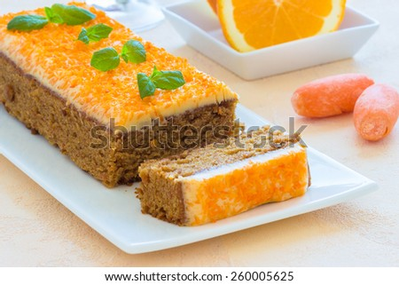 Carrot cake, selective focus - stock photo