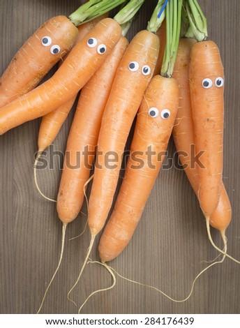 carrot family - stock photo
