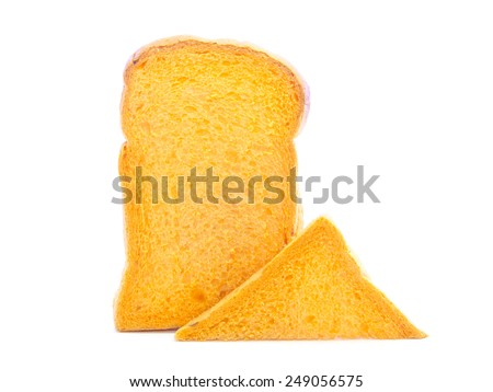 Carrot  fresh bread and sandwich sliced ingredient on white background