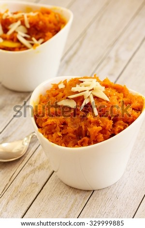 Carrot Halwa Carrot Pudding Diwali Sweets Stock Photo ...