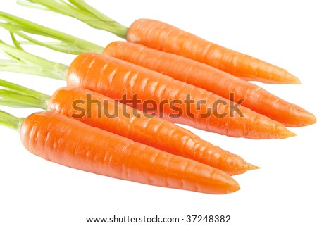 Carrot isolated on a white background - stock photo