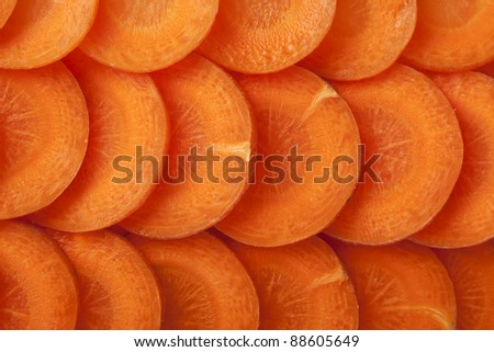 Carrot slices background