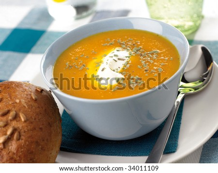 carrot-soup - stock photo