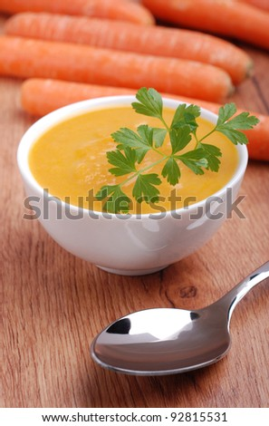 carrot soup - stock photo