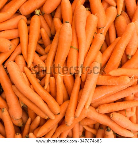 Carrots.  Fresh organic carrots.  Background texture of  carrots. - stock photo