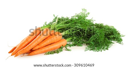 carrots isolated on white - stock photo