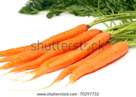 carrots isolated on white