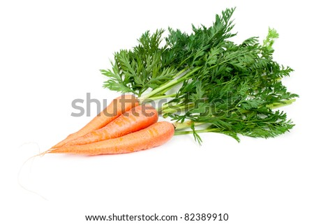 Carrots isolated on white background - stock photo
