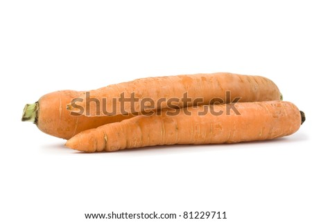 carrots on white - stock photo