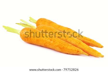 Carrots on white background - stock photo