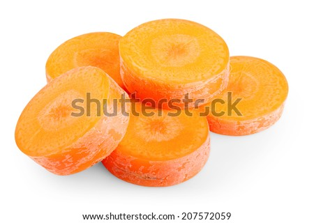 Carrots on white background. Clipping path - stock photo