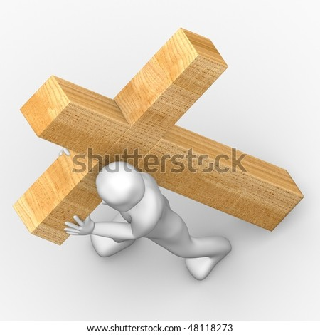 Carry the cross - stock photo